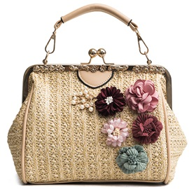 Korean Style Floral Small Tote Bag