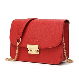 PU Thread Plain Rectangle Crossbody Bags