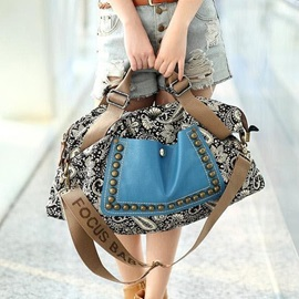 Ethnic Style Bronze Rivets Vintage Large Capacity Hand Bags