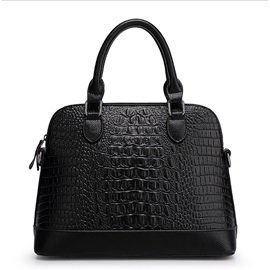 Zipper Croco Tote Bag