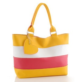 Casual Fashion Color Block Zipper Women Totebag