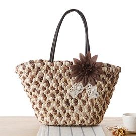 Weave Zip Tote Bag for Women