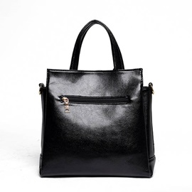 Solid Embossing Fashion Women Tote Bag