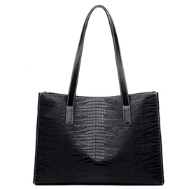 Large Capacity Croco-embossed Women's Tote Bag