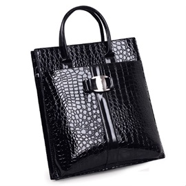 Well-matched Croco-embossed Women's Tote Bag