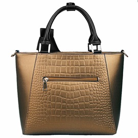 Croco-embossed with Bowknot Women's Tote Bag