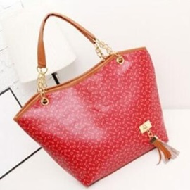 Fashion Bone Pattern Plain Concise Tote Bag