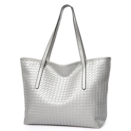 Casual Pure Knitted Work Tote Bag