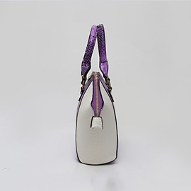 Color Block Wing Type Zipper Satchel