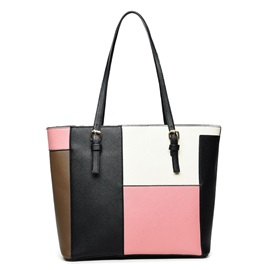 Big Capacity Patchwork Tote Bag
