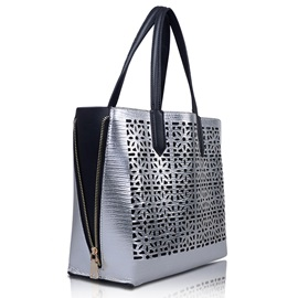 Hollow Double  Design Tote Bag