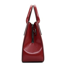 Retro Pure Color PU Tote Bag