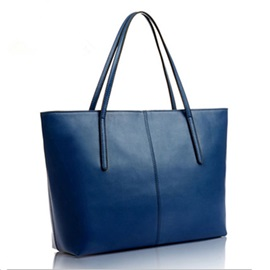 Simple Solid Color Women Tote Bag
