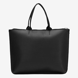 Business Style Concise PU Tote Bag