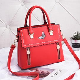 Elegant Butterfly Embroidery Vary Color Tote Bag