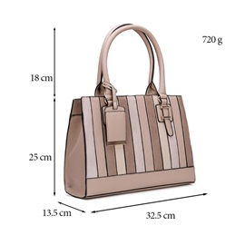 Casual Stripe Color Block Women Tote Bag
