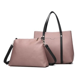 PU Plain Thread Square Tote Bags