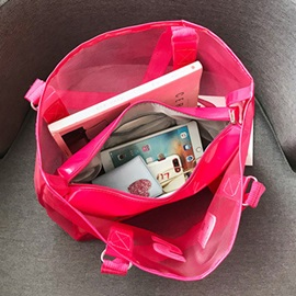 ABS Plastic Letter Thread Square Tote Bags