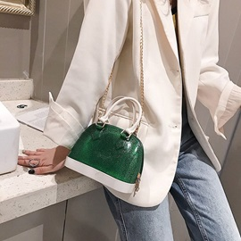 PU Patchwork Shell Tote Bag