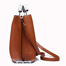 Thread Alligator PU Handbag