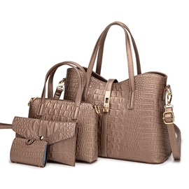 Embossing PU Alligator Rectangle Tote Bags