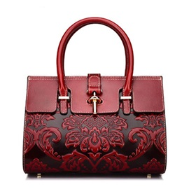 Floral Fashion Embossing Tote Bags