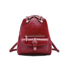 Fashion Solid Color Casual Women Backpack