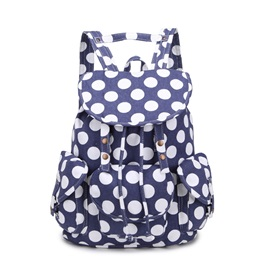 Polka Dot Flap Backpack