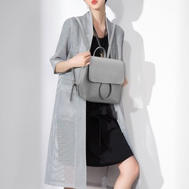 Casual Snap-cover Pu Backpack