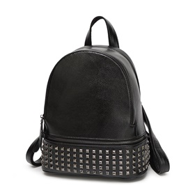 Punk Rivets Decorated Backpack
