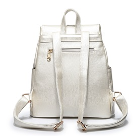 Drawstring Decorated with Zipper Women's Backpack