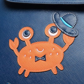 Cartoon Crab Snap Cover Backpack
