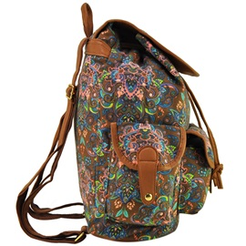 Folk Flower Printing Women's Backpack