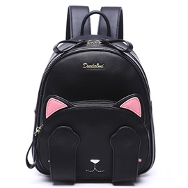 Lastest Cute Cat Embroidery Backpack