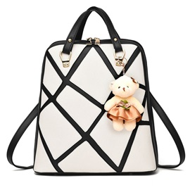 Cool European Geometric Patchwork Backpack