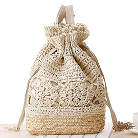 Hand-make Crochet Hollow Knitted Backpack