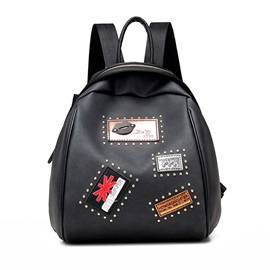 Personality Badge Adornment Mini Backpack