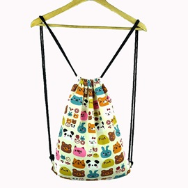 Simple Drawstring Canvas Backpack