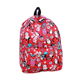Korean Style Canvas Floral Printing Backpack