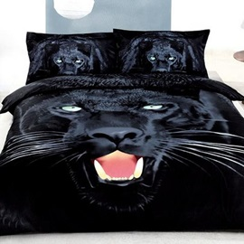 Nice 4 Pieces Black Panther Print Bedding Sets