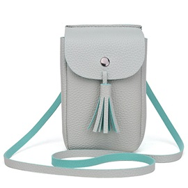 Tassel Decor Magnetic Snap Phone Cross Body