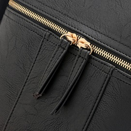 Simple Pure Color Rivets Decorated Crossbody Bag