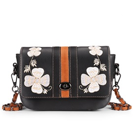Vogue Plum Embroidery Crossbody Bag
