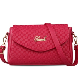 Celebrity Embroidery Embossed Crossbody Bag