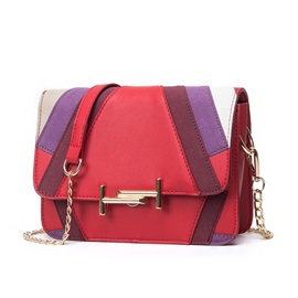Celebrity Color Block Chain Crossbody Bag