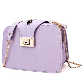 Simple Candy Color Multi-Layer Crossbody Bag
