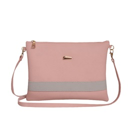 Casual Cross Section Color Block Crossbody Bag