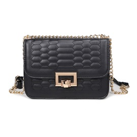 Korean Style Ling Plaid Telescopic Chain Crossbody Bag