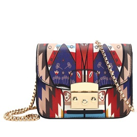 Geometric Pattern Print Crossbody Bag