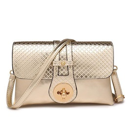 Croco-Embossed Color Block Crossbody Bag